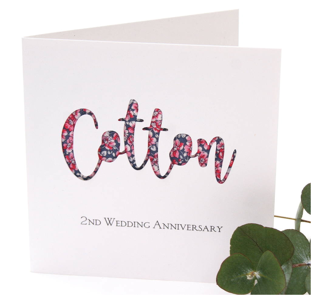 original cotton 2nd wedding anniversary card jpg