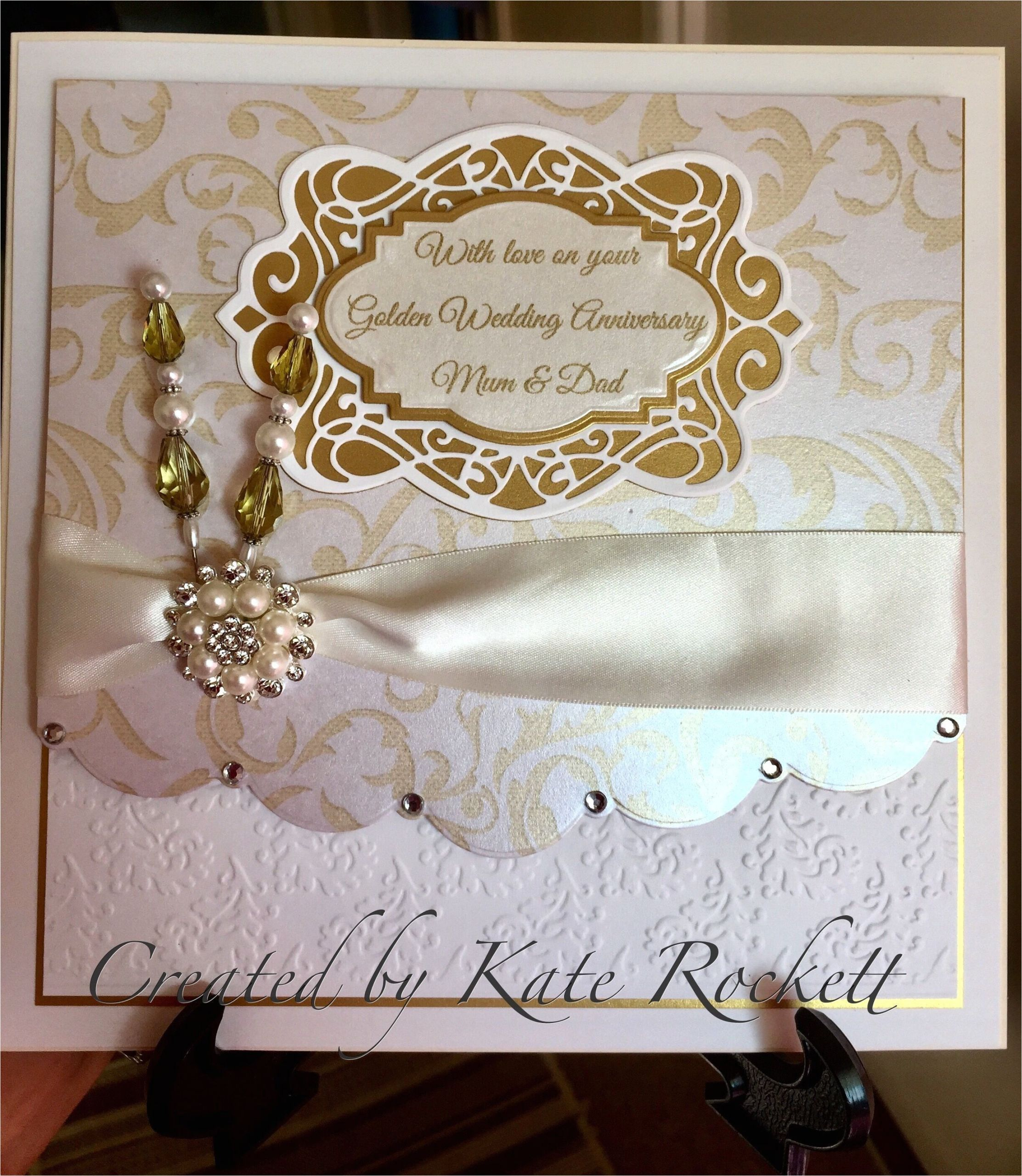 Image Of Marriage Anniversary Card 50th Anniversary Cards In 2020 with Images 50th