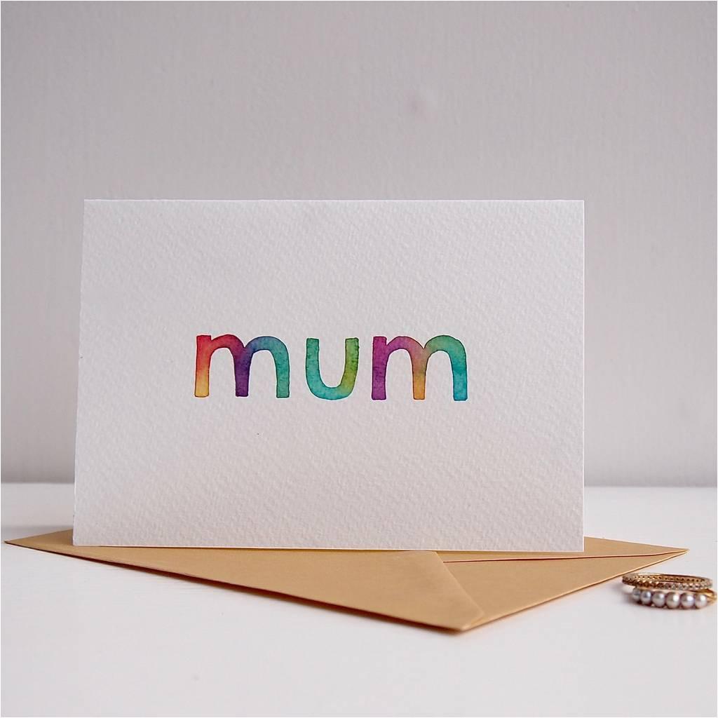 original handmade watercolour mothers day mum birthday card jpg
