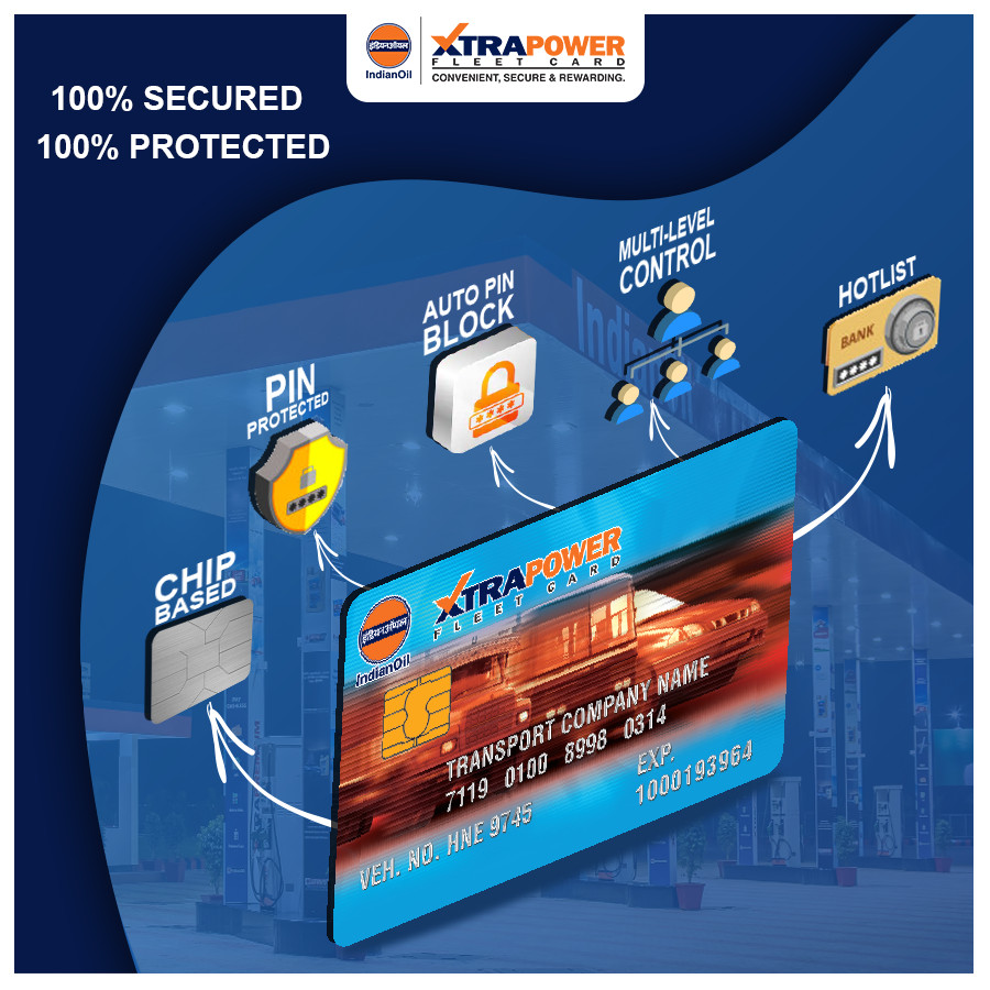 Indian Oil Xtrapower Easy Fuel Card Manage Your Fuel Expenses with 100 Secured Protected