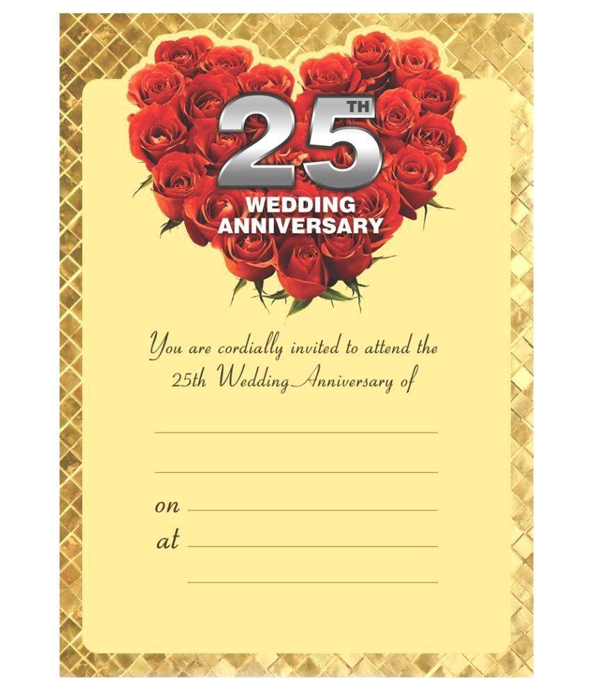 Invitation Card for Silver Jubilee Wedding Anniversary 50th Anniversary Invitation Cards In 2020 50th Anniversary