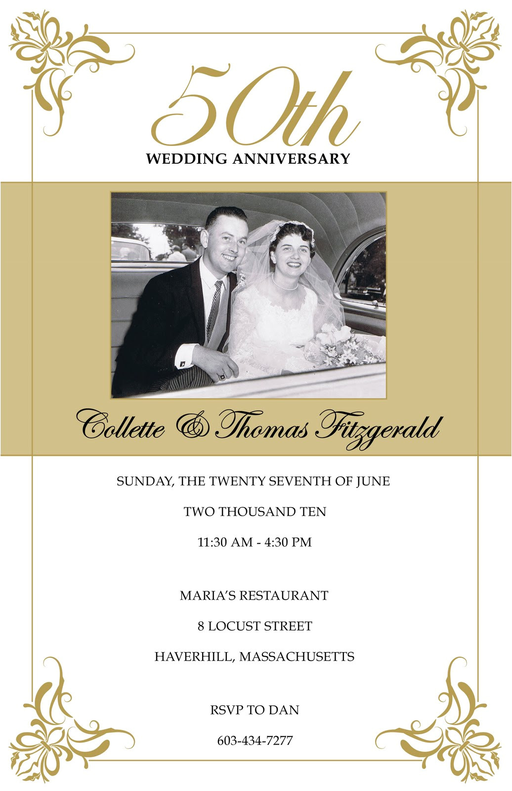 50th wedding anniversary invitations walmart jpg