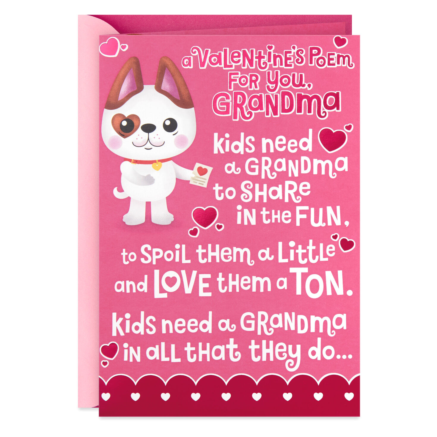 cute dog popup valentines day card for grandma 499vkd9947 01 jpg