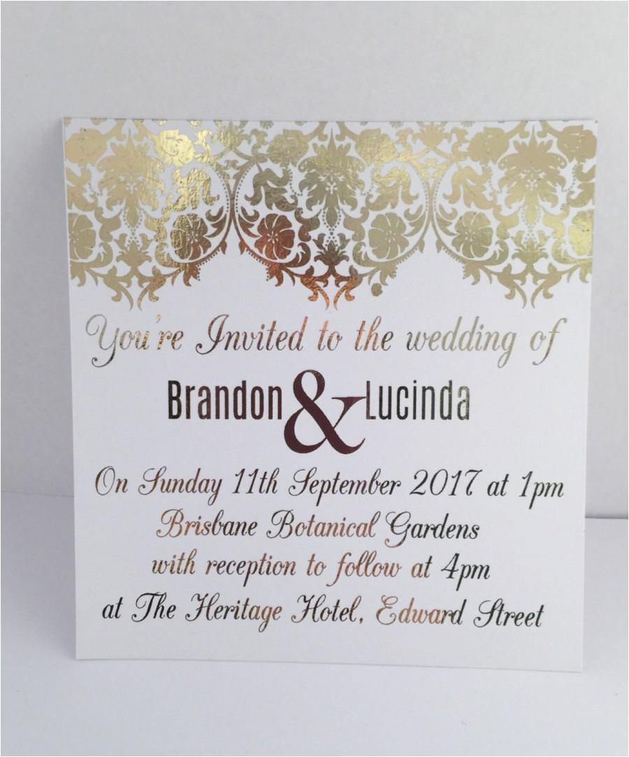 wedding card samples in nigeria hindu sample text reception wording indian menu example bengali english marvelous gold foil invitation set with rsvp jpg