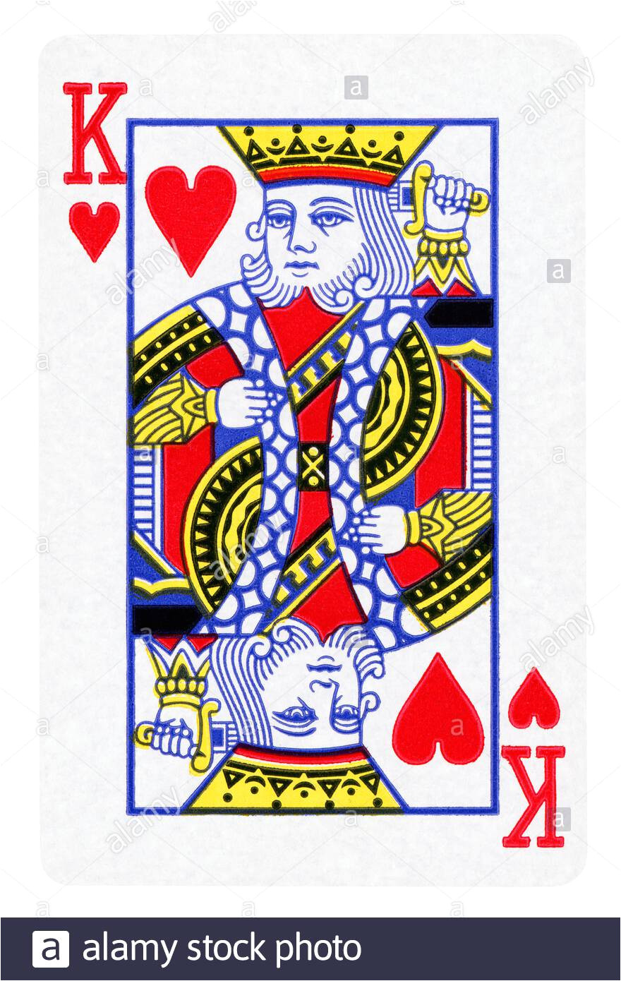 king of hearts vintage playing card isolated on white clipping path included 2axwwe6 jpg