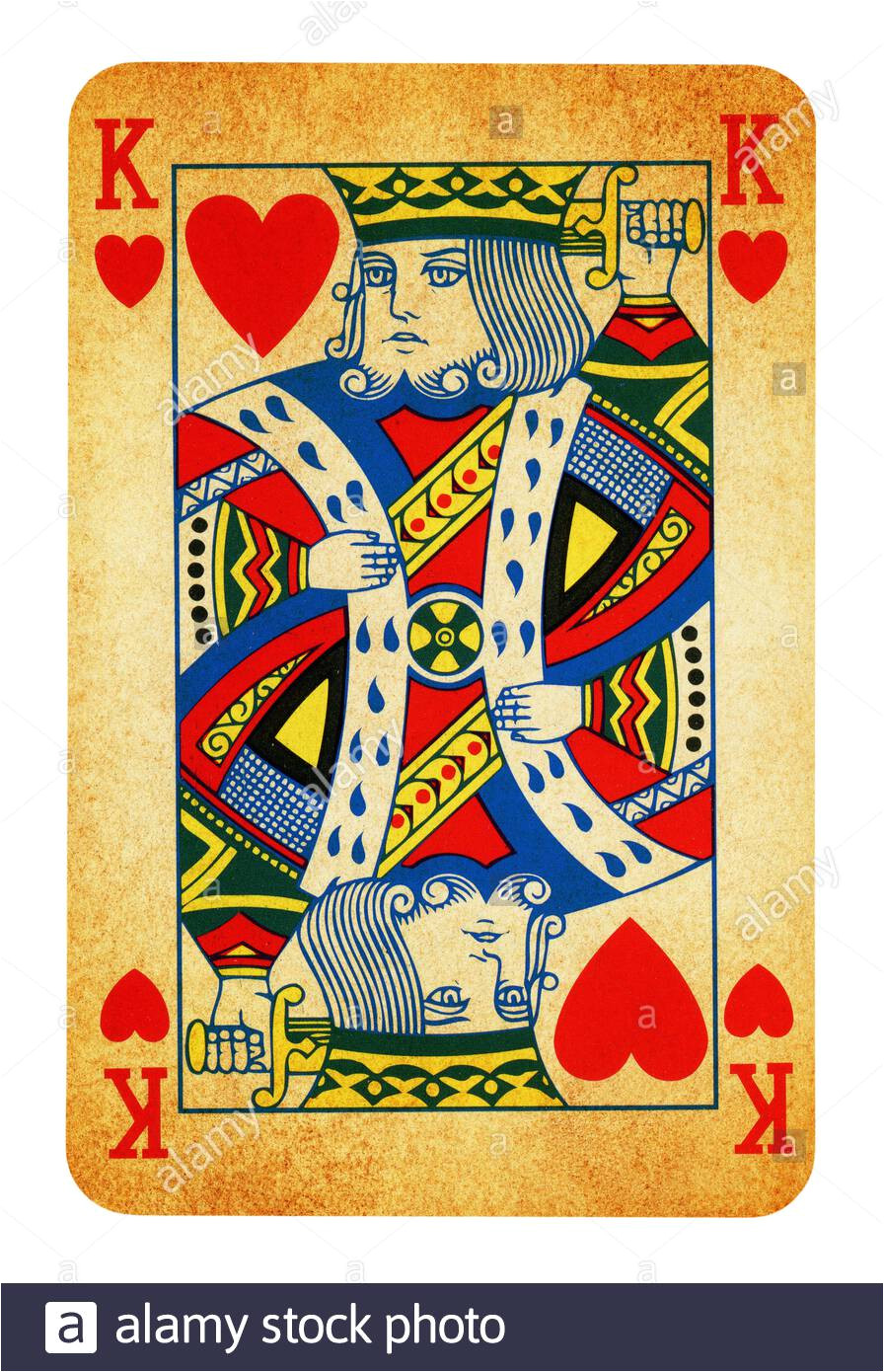 king of hearts vintage playing card isolated on white clipping path included 2ae2tcc jpg