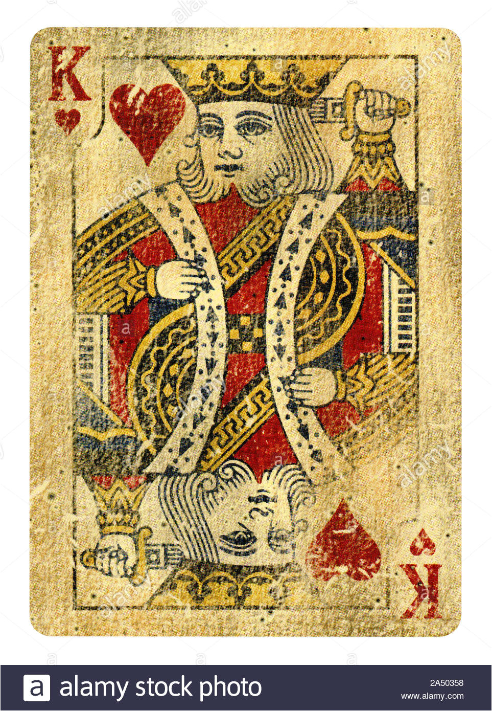 king of hearts playing card isolated on white clipping path included 2a50358 jpg