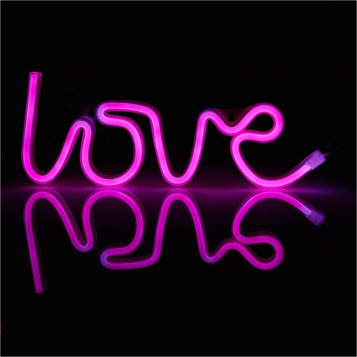 Loft Love Card Sign In Led Schriftzug Love Usb Batteriebetrieben Von Lampenwelt