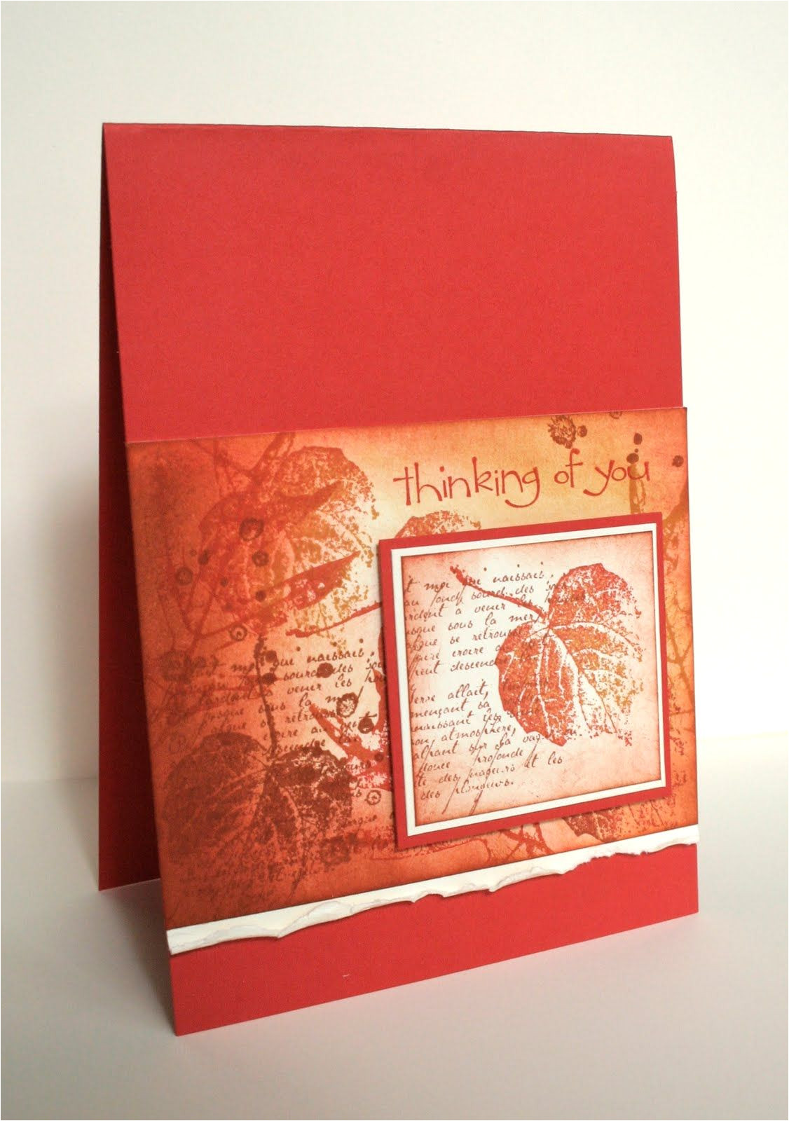 Love From In French for A Card Stamps French Foliage so Happy for You Card Poppy Parade