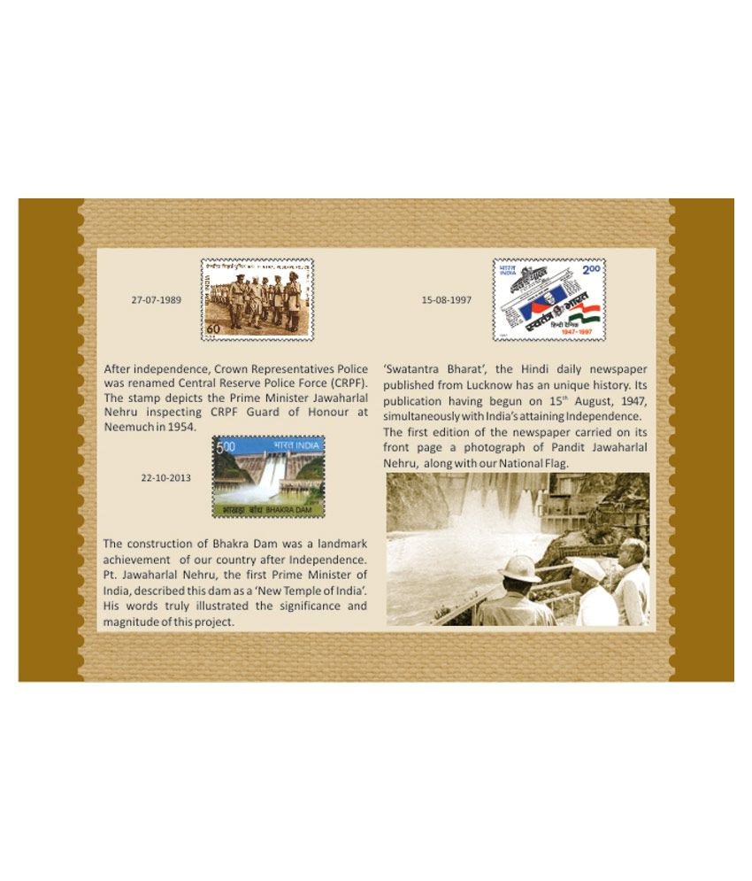 Marriage Card Of Jawaharlal Nehru India Post Stamp Booklet Pandit Jawahar Lal Nehru