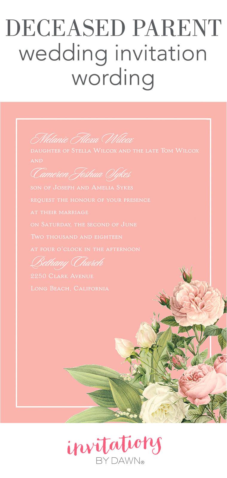 dawn a deceased parent wedding invitation wording main 042216 jpg