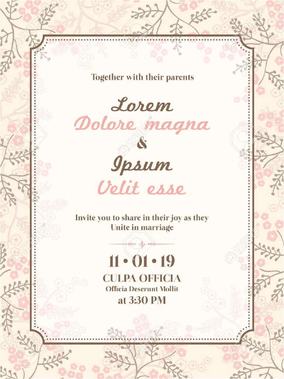 Marriage Invitation Card In English Marriage Invitation Cards Dengan Gambar