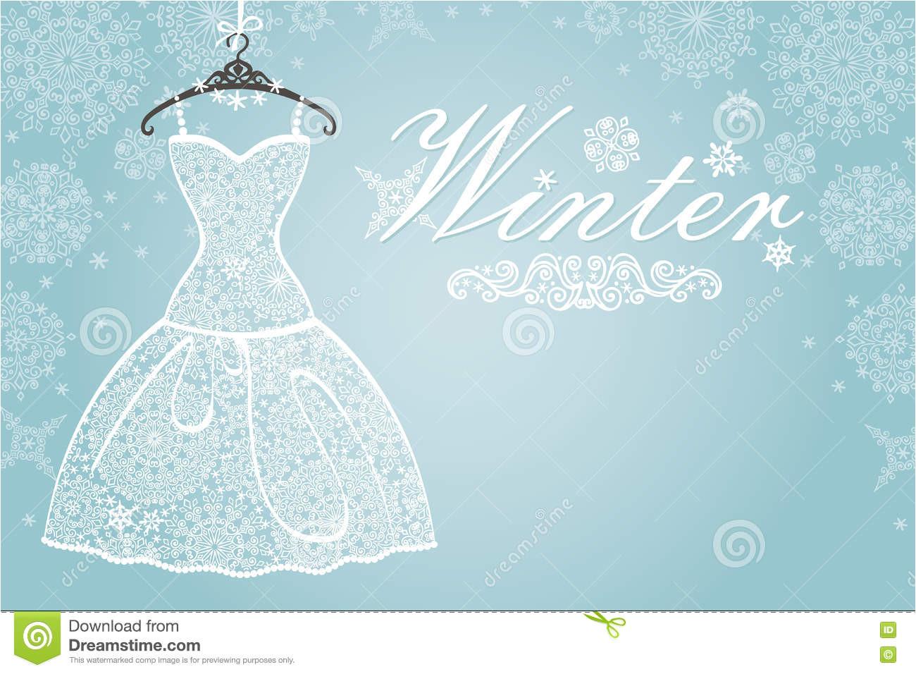 winterkarte brautkleid mit schneeflockenspitze vertikal 79774997 jpg