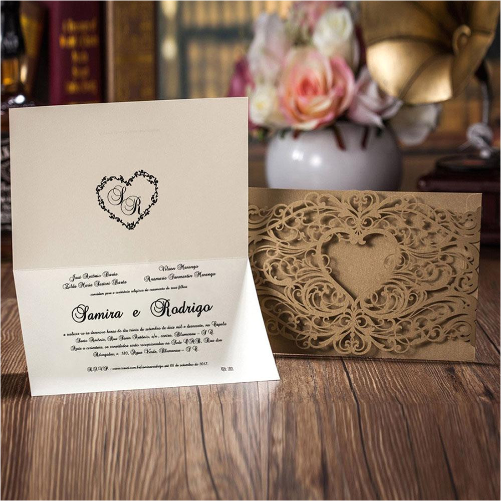 gold lace cut wedding invitation with motifs and heart shape cw4511 3 lrg jpg