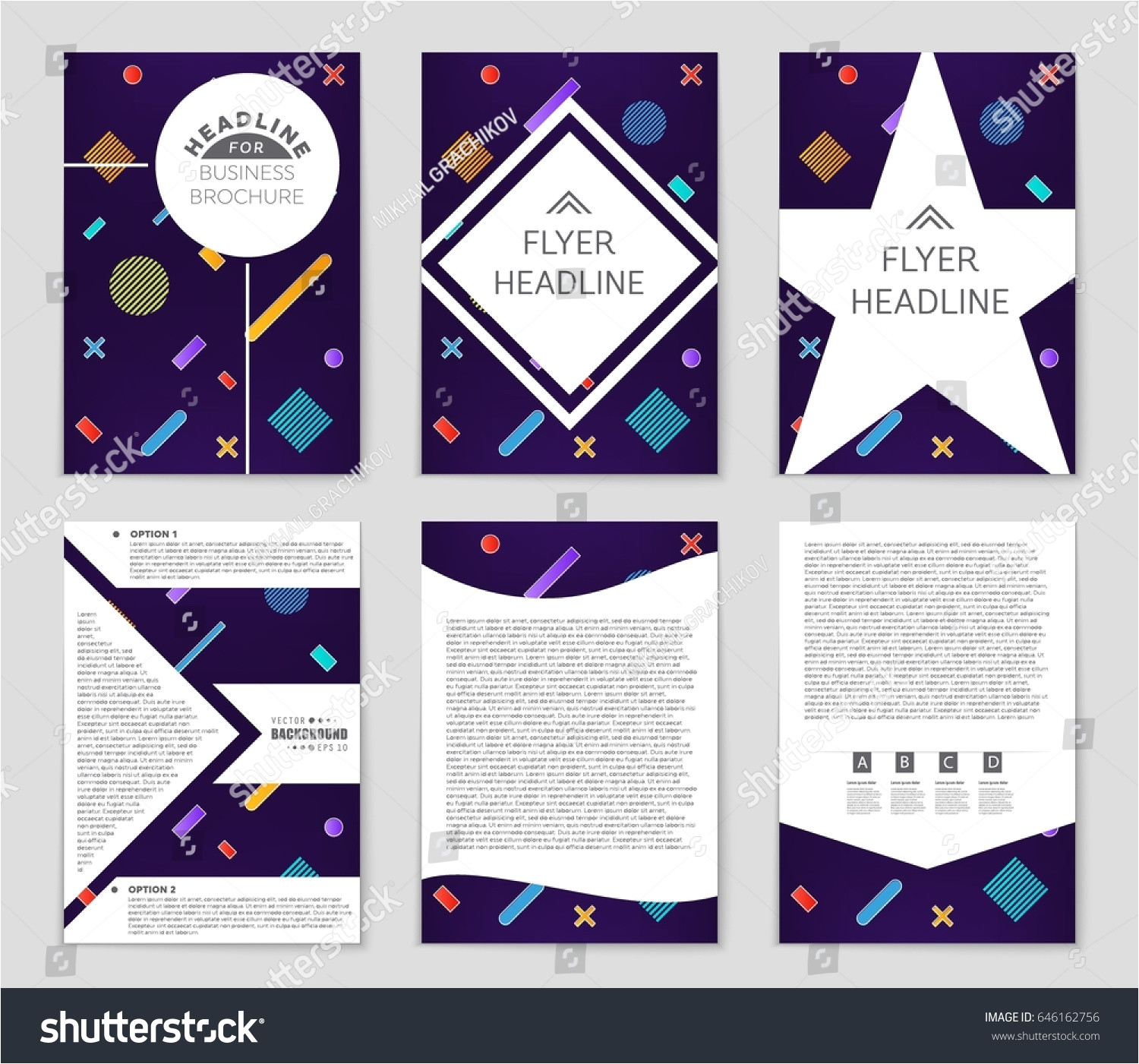 stock vector abstract vector layout background set for art template design list front page mockup brochure 646162756 jpg