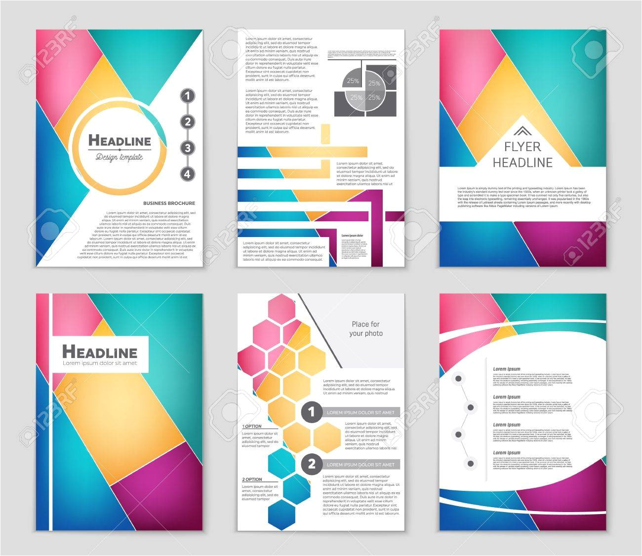 76045043 abstract vector layout background set for art template design list front page mockup brochure theme jpg