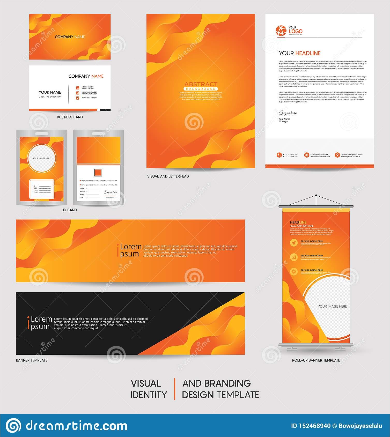 modern stationery mock up set visual brand identity abstract colorful dynamic background shape vector illustration 152468940 jpg