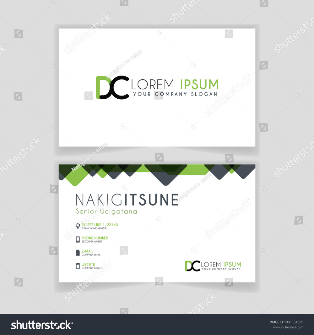 Mobile Shop Visiting Card Background Simple Business Card Initial Letter Dc Stock Vector Royalty
