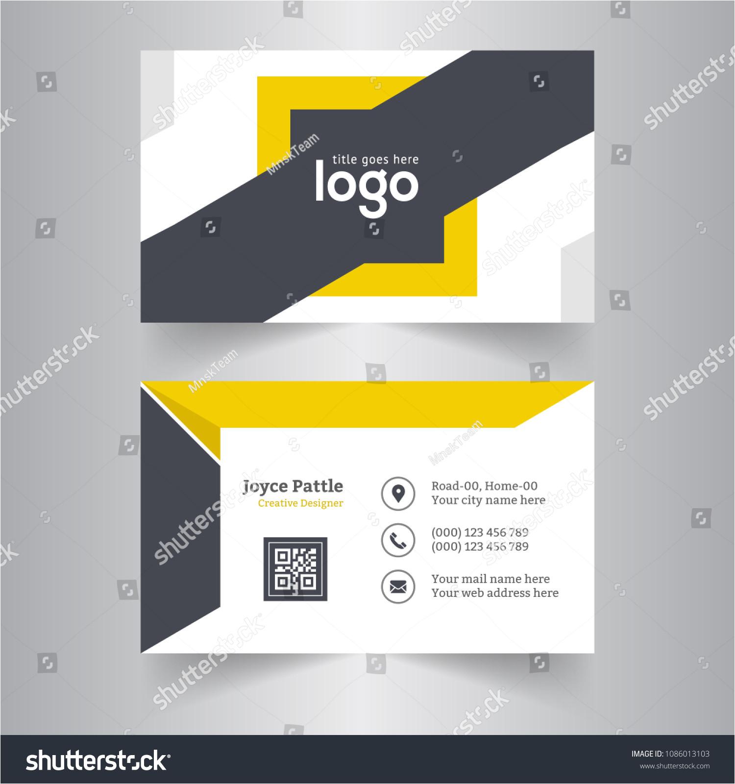stock vector creative business card creative and clean business card template modern business card design 1086013103 jpg