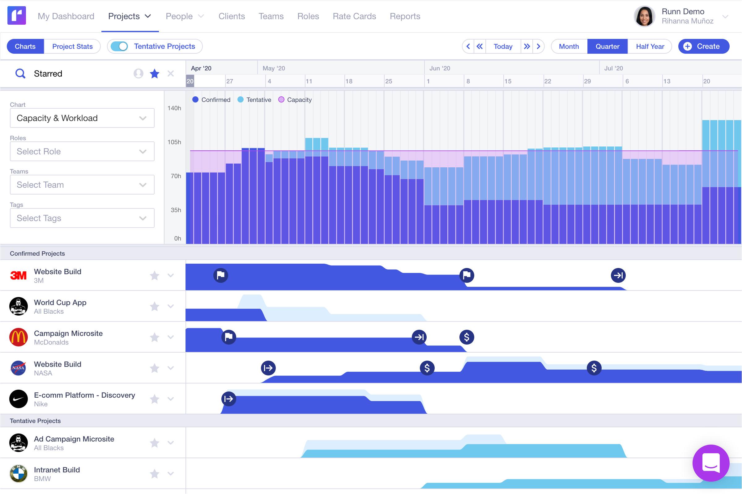 runn planner interface png