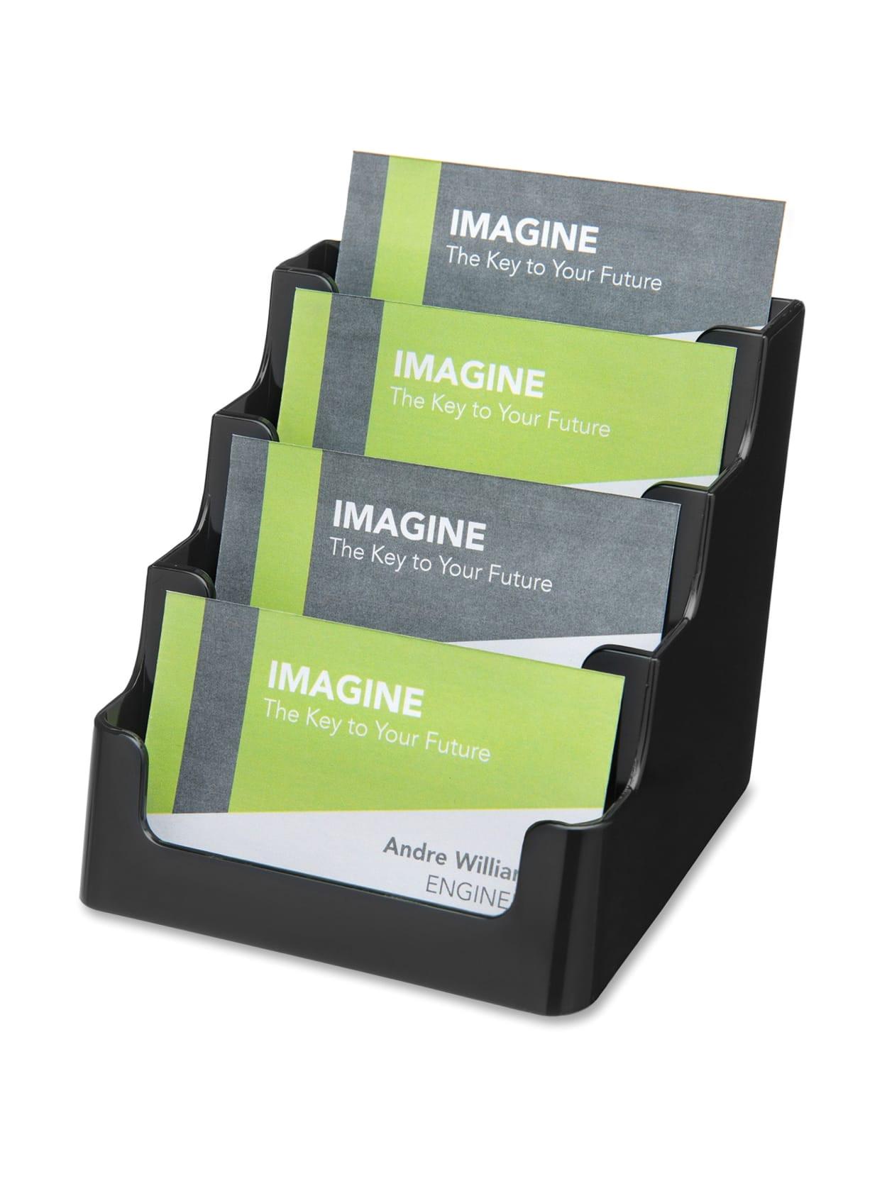 Modern Desktop Business Card Holder Deflecto 4 Tier Business Card Holder 3 5 X 3 9 X 4 1 Plastic