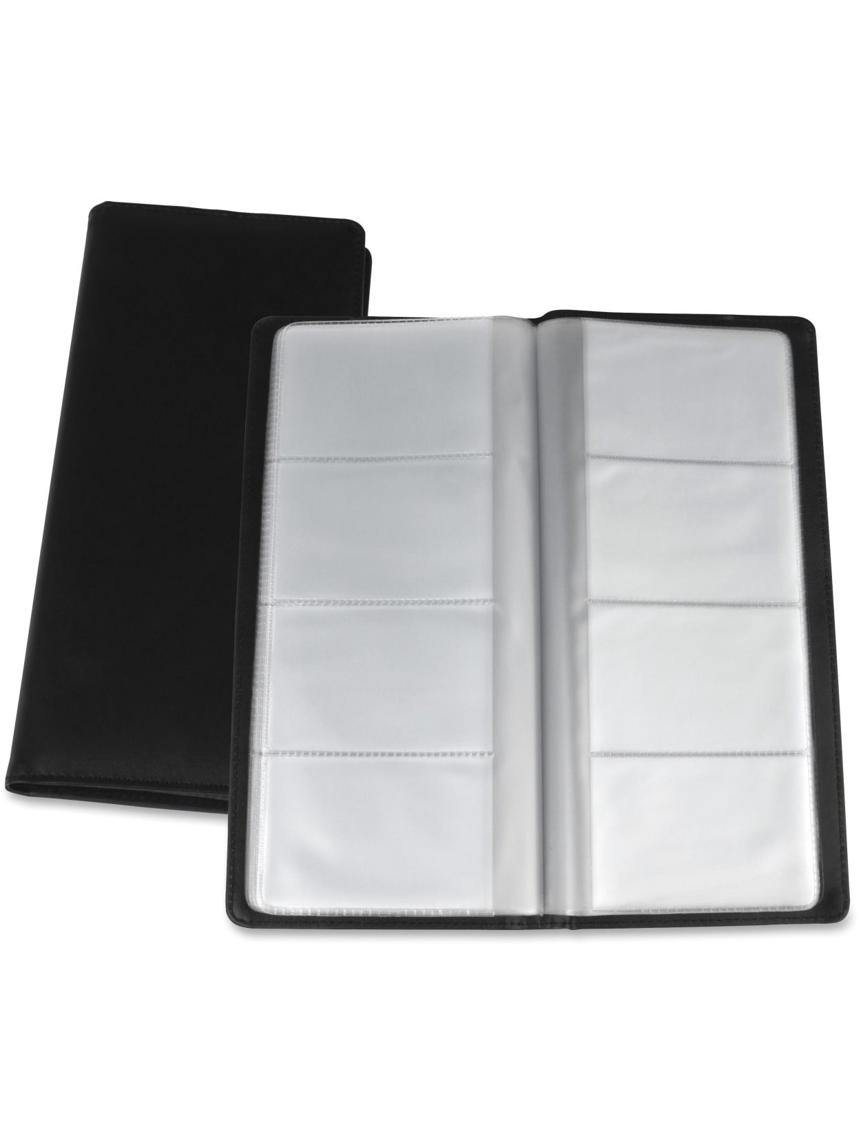 Modern Desktop Business Card Holder Lorell Business Card Storage Holder 0 8 X 4 4 X 9 Vinyl Plastic 1 Each Black Clear Item 883227