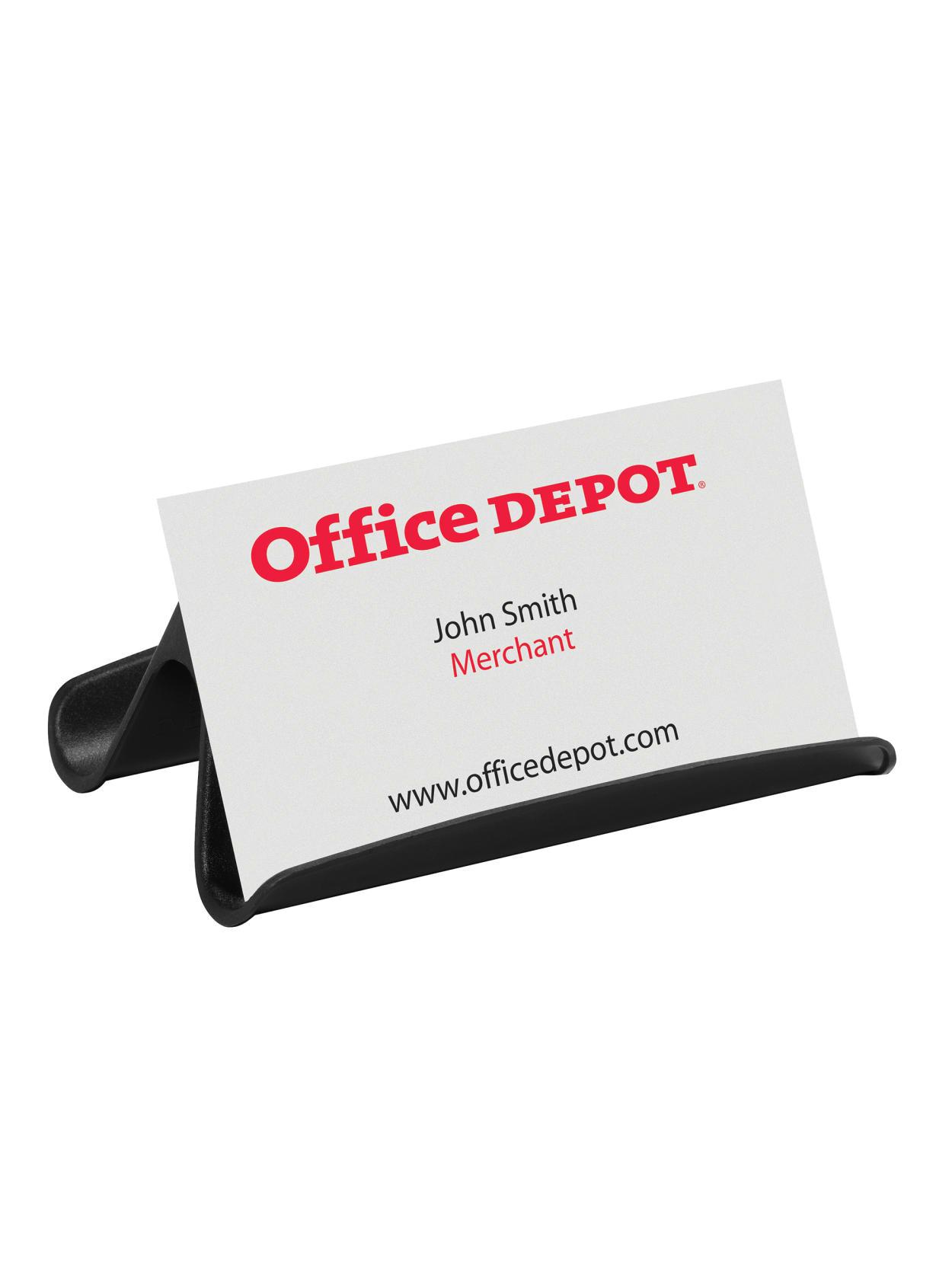 Modern Desktop Business Card Holder Office Depota Brand Business Card Holder Black Item 999063