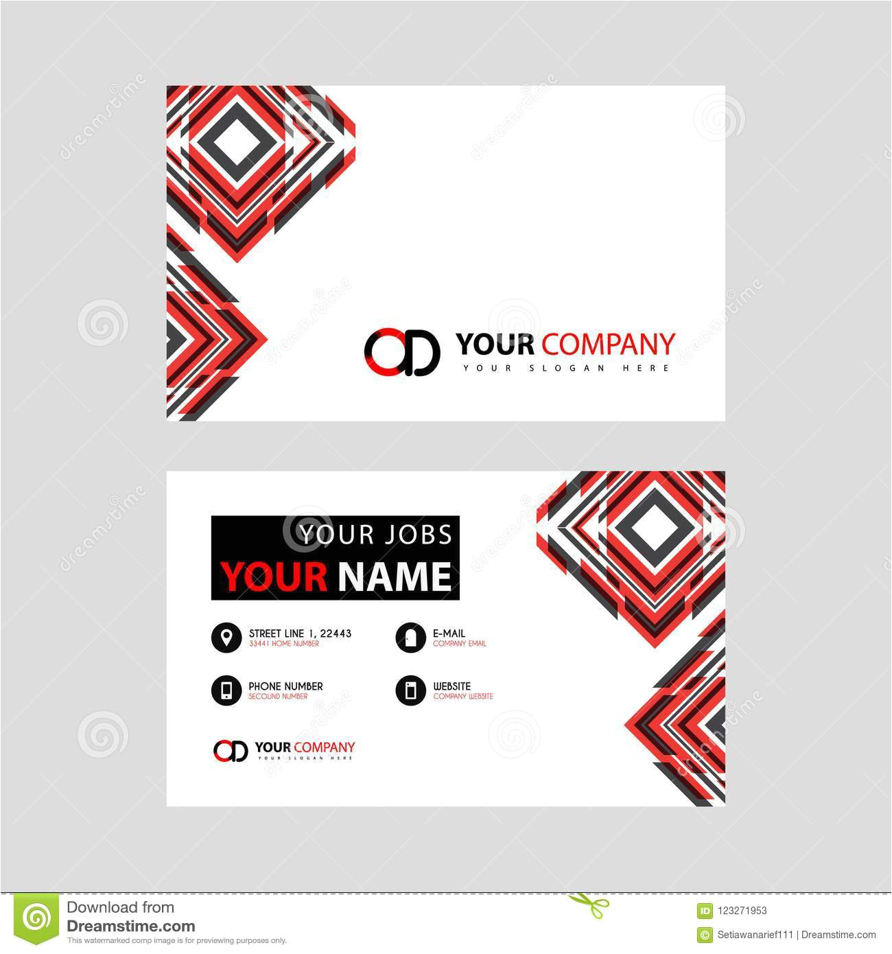 letter od logo black which included name card simple business horizontal template something like 123271953 jpg