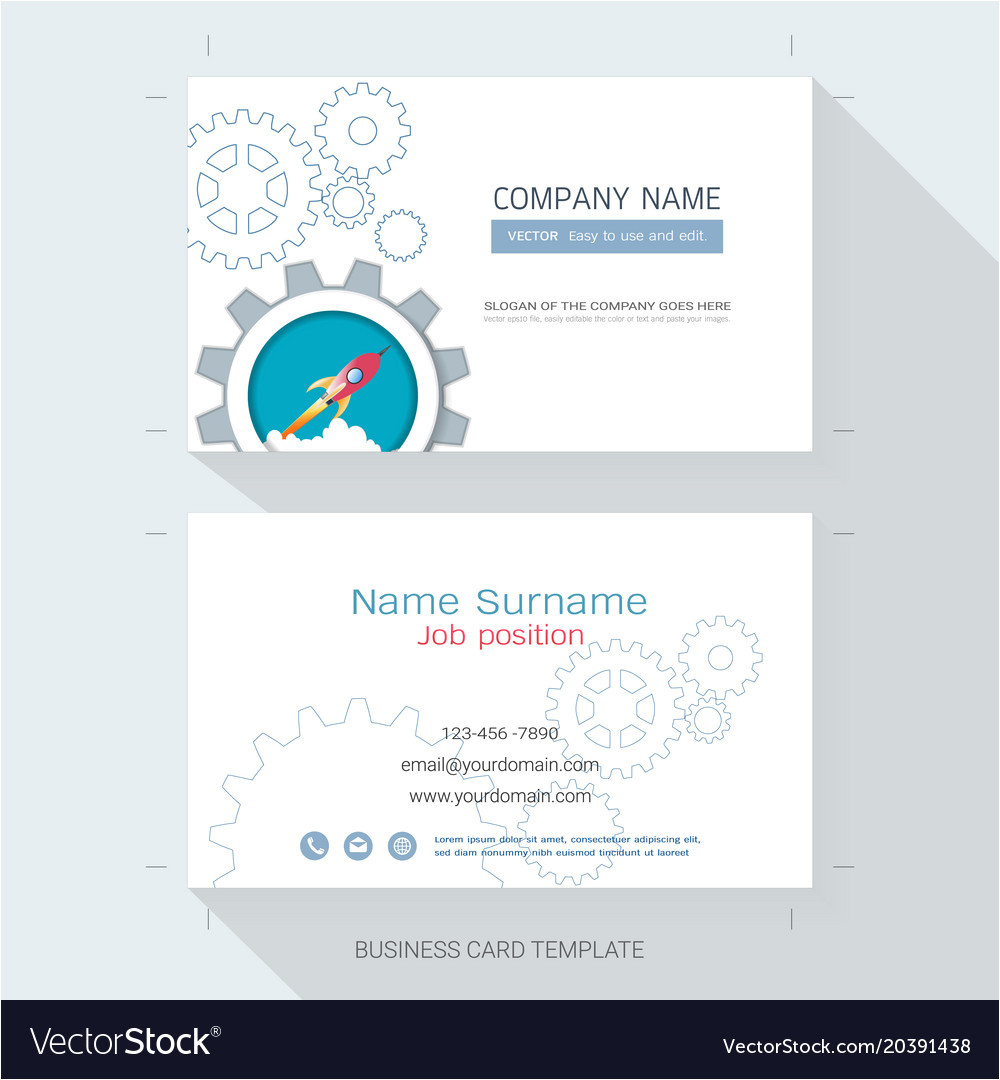 startup business card or name card template vector 20391438 jpg