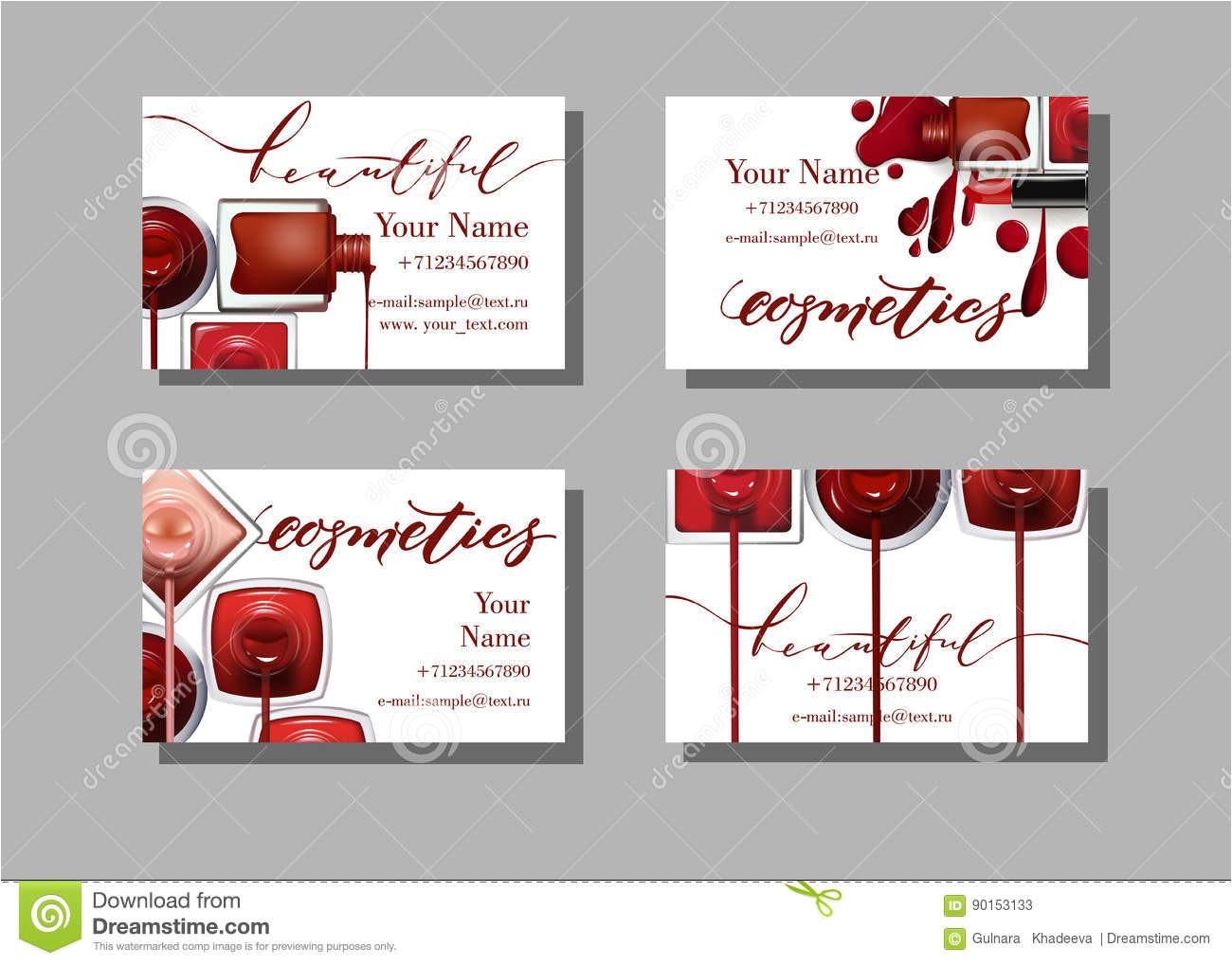 makeup artist business card vector template makeup items pattern nail polish template vector fashion beauty background 90153133 jpg