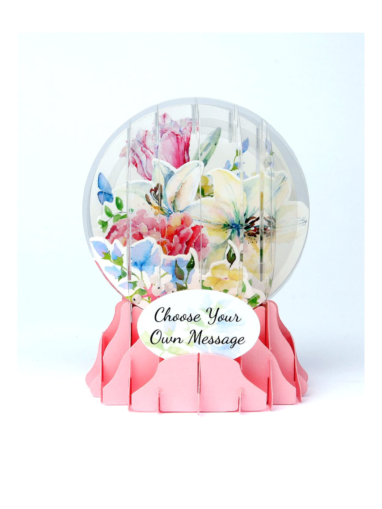 7893431 o01 up with paper everyday pop up snow globe greeting cards watercolor bouquet