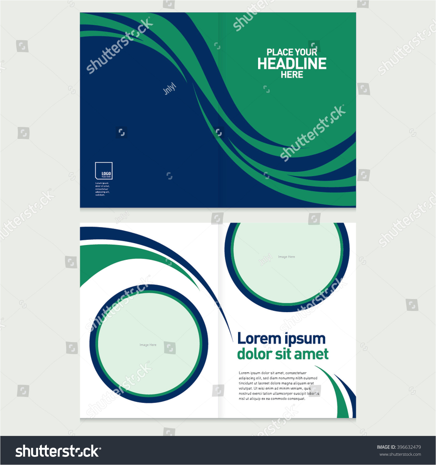 stock vector brochure cover and inner pages design template abstract background with geometrical pattern 396632479 jpg