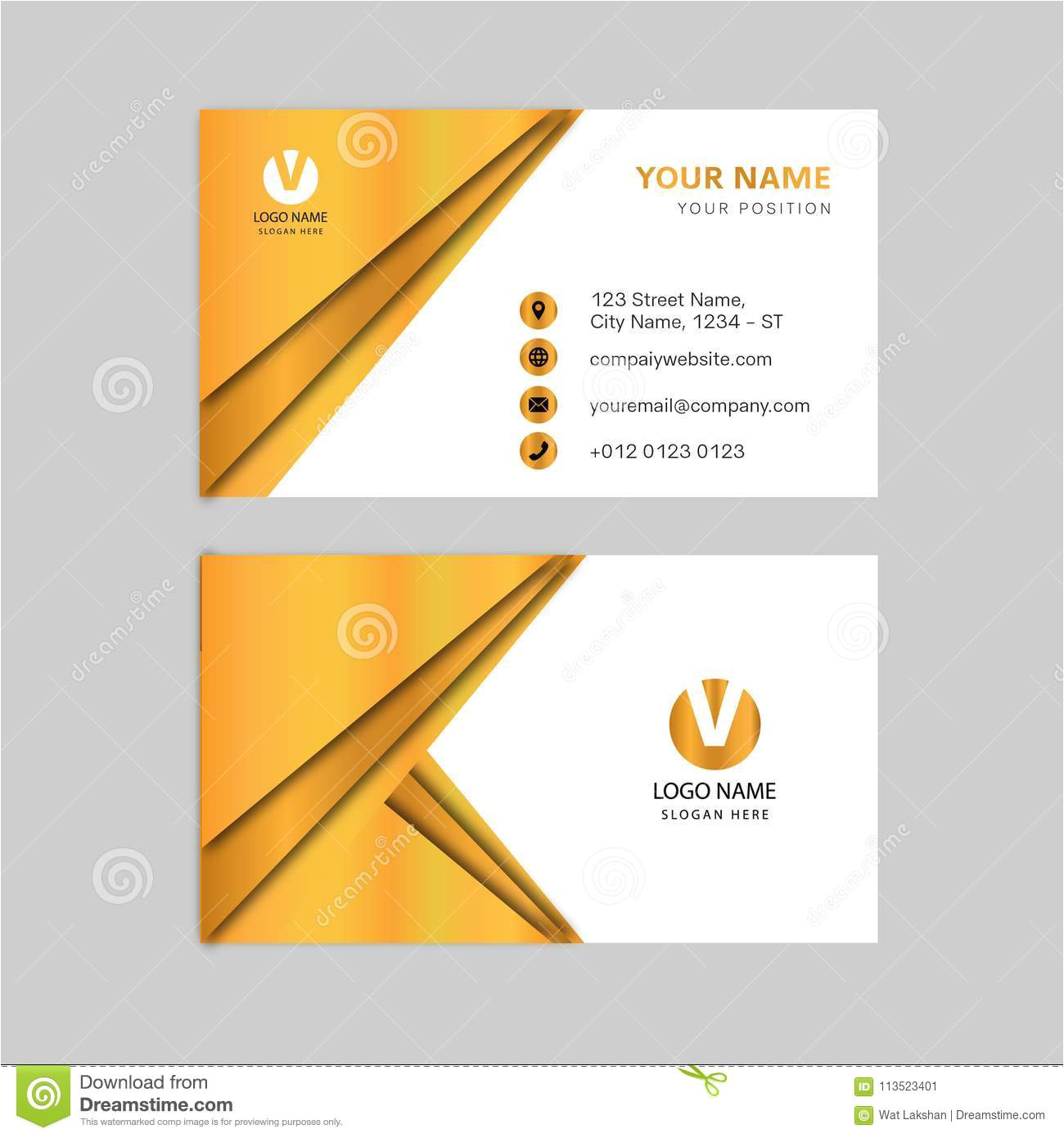 creative gold color business card design print ready modern design creative gold color business card design 113523401 jpg
