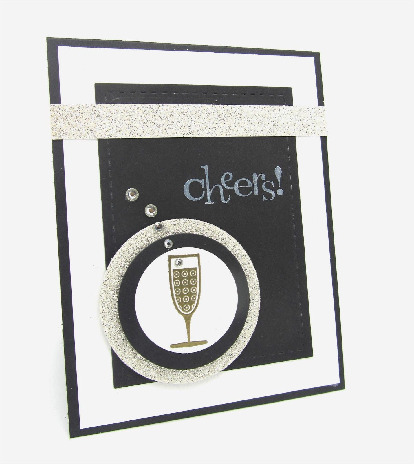 New Year Greeting Card Handmade Happy New Years with Cheers with Images Cheers Card