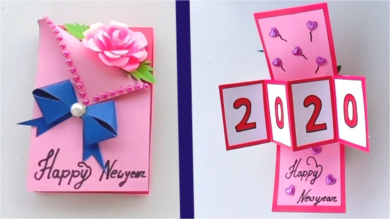 New Year Greetings Card Design Handmade How to Make Happy New Year Card 2020 New Year Greeting