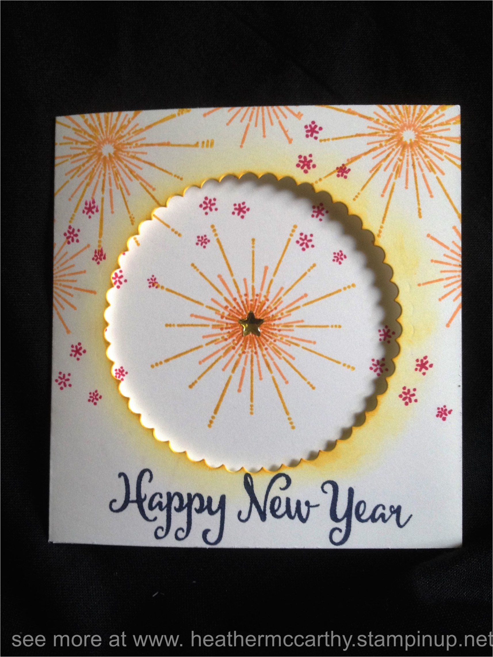 New Year Greetings Card Design Handmade Stampin Up S It S A Celebration Stamp Set From the 2016