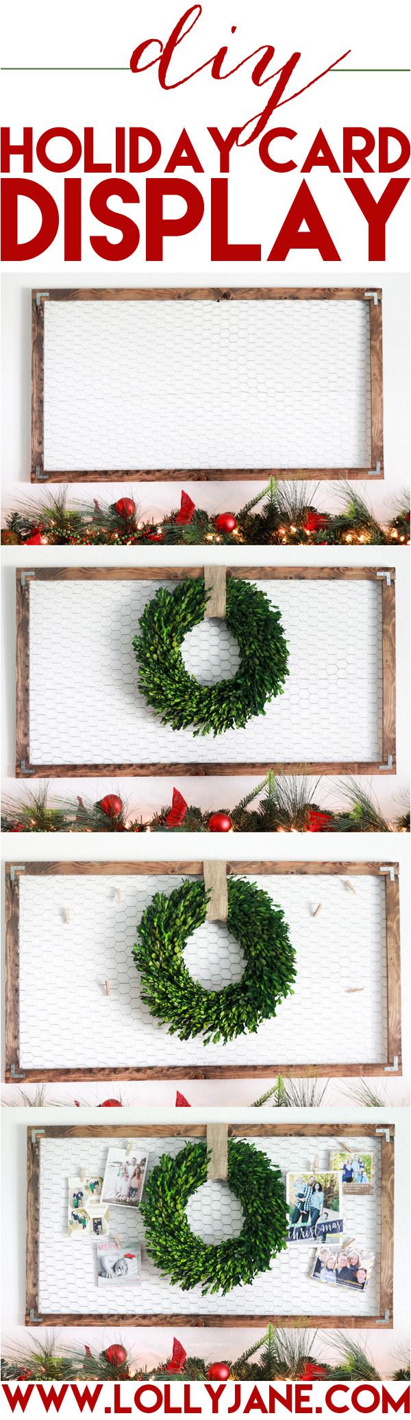 diy holiday christmas card display2 jpg