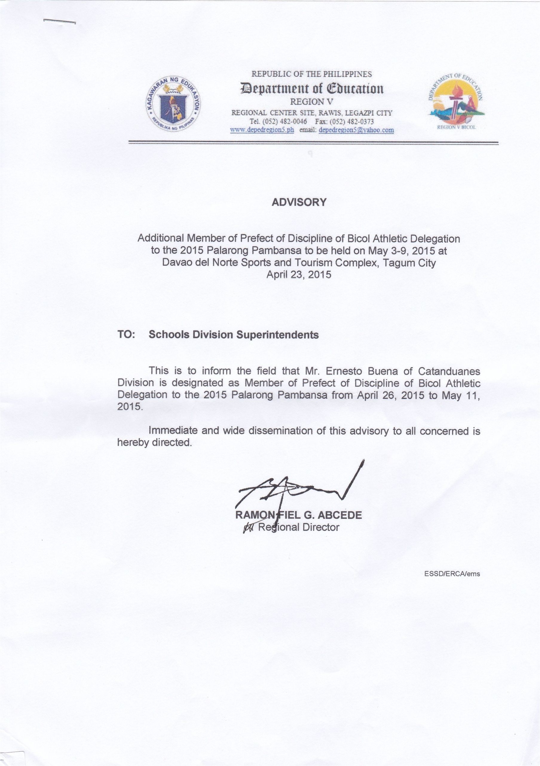 submission of letter of intent od retiring employees jpg