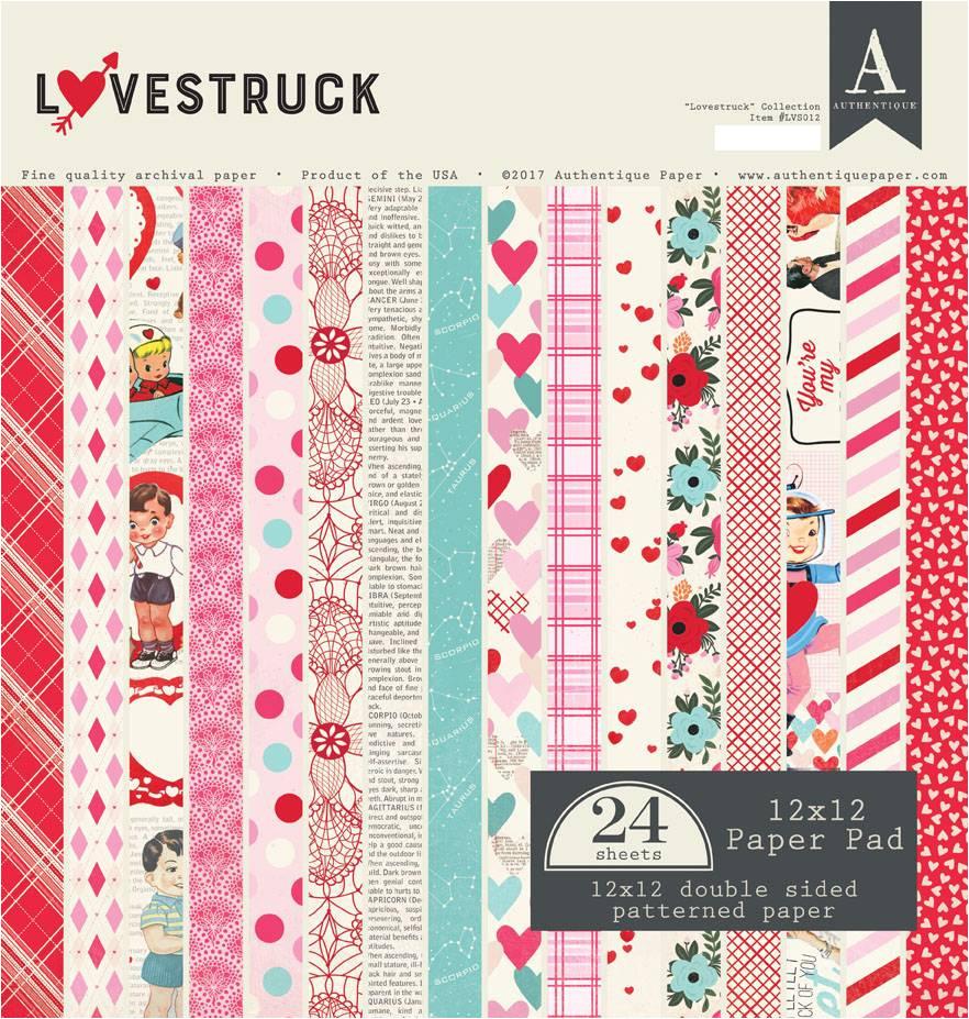 authentique 12x12 paper pad lovestruck lvs012 jpg
