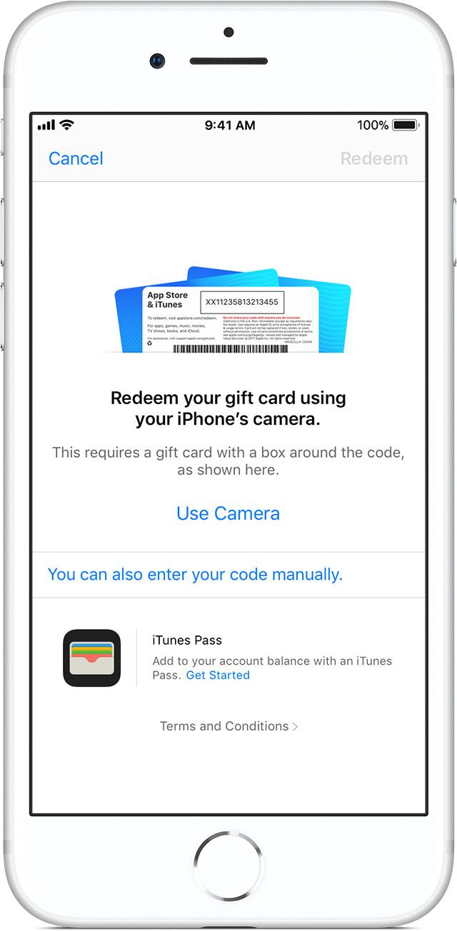 ios11 3 iphone8 app store account redeem gift card jpg