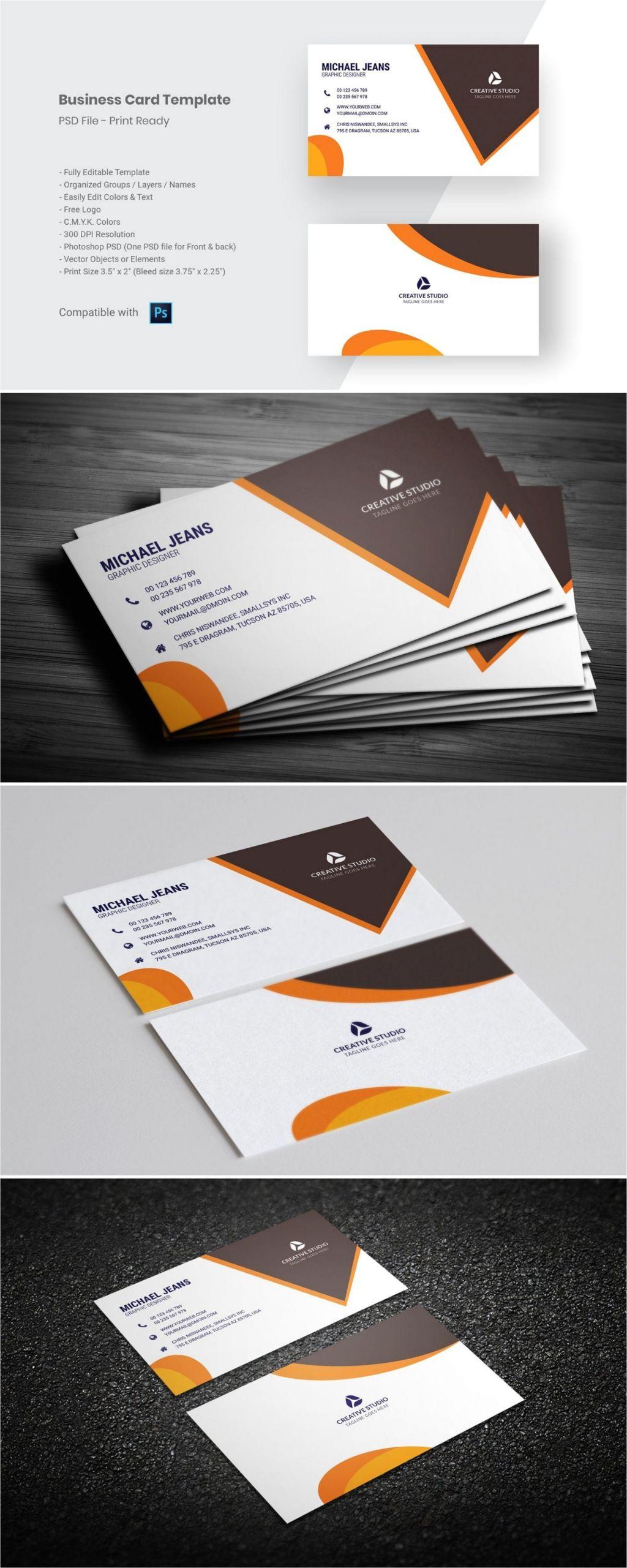 Photo Studio Visiting Card Background Modern Business Card Template Business Card Template