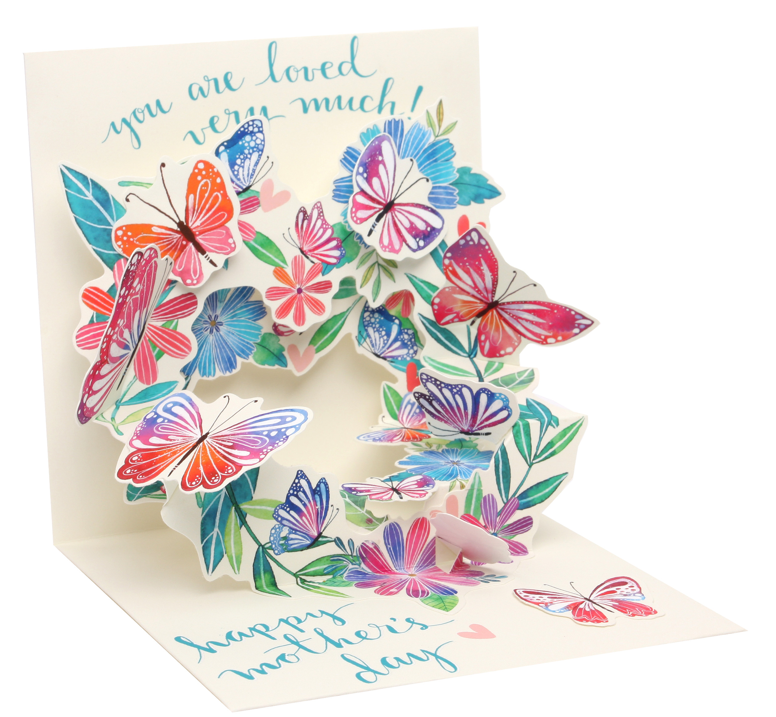 3427996 p up with paper mother s day pop up greeting cards butterfly wreath