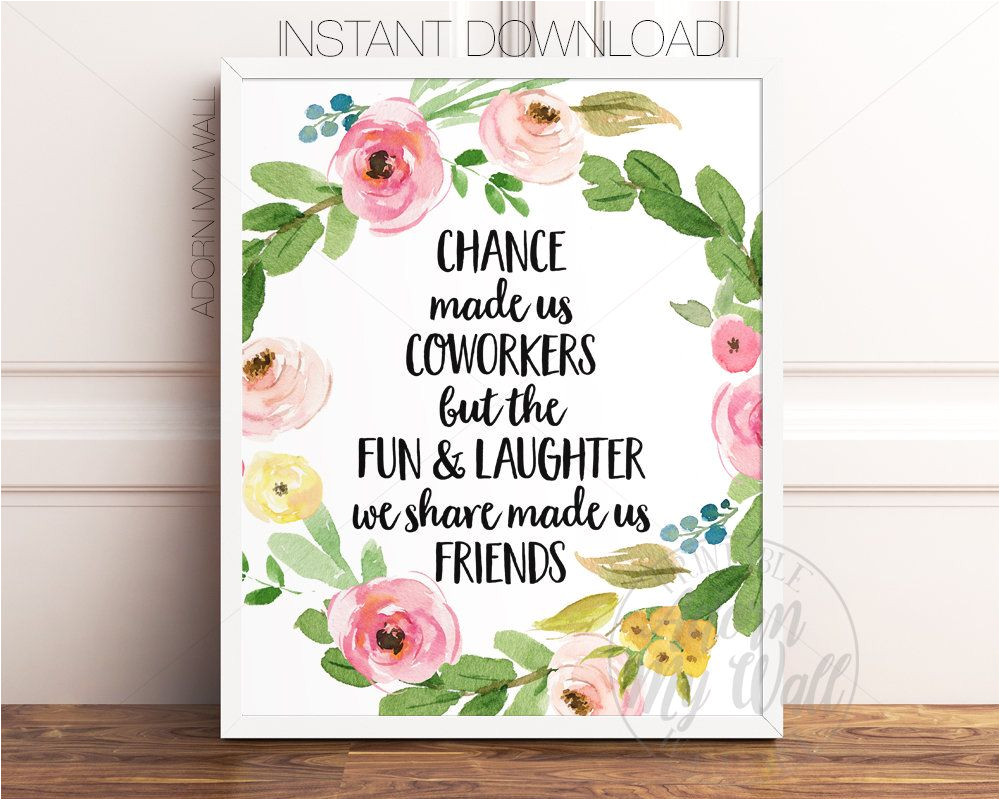 Printable Farewell Card for Coworker Gift for Coworker Chance Made Us Coworkers Retirement Gift