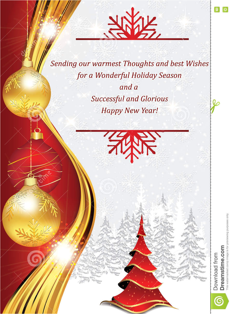 new year corporate greeting card business customers clients business partners employees copy space your text print 78417657 jpg