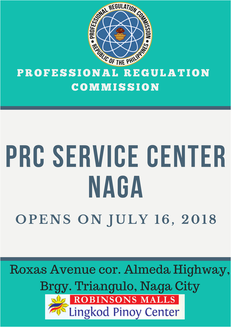 Professional Regulation Commission Identification Card Prc Opens New Service Center In Naga City Professional