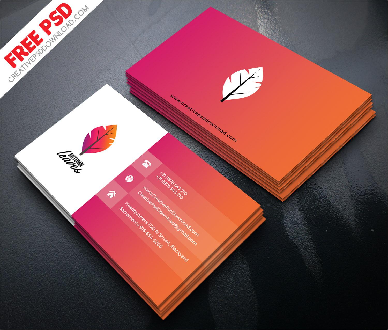 professional business card psd jpg