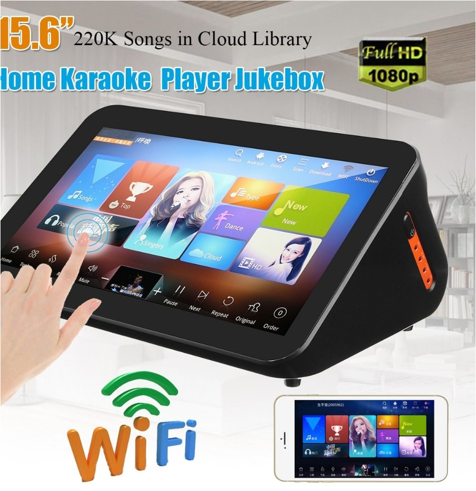 gymsong touch screen singing ktv player system font b jukebox b font karoake 3tb hdd include jpg