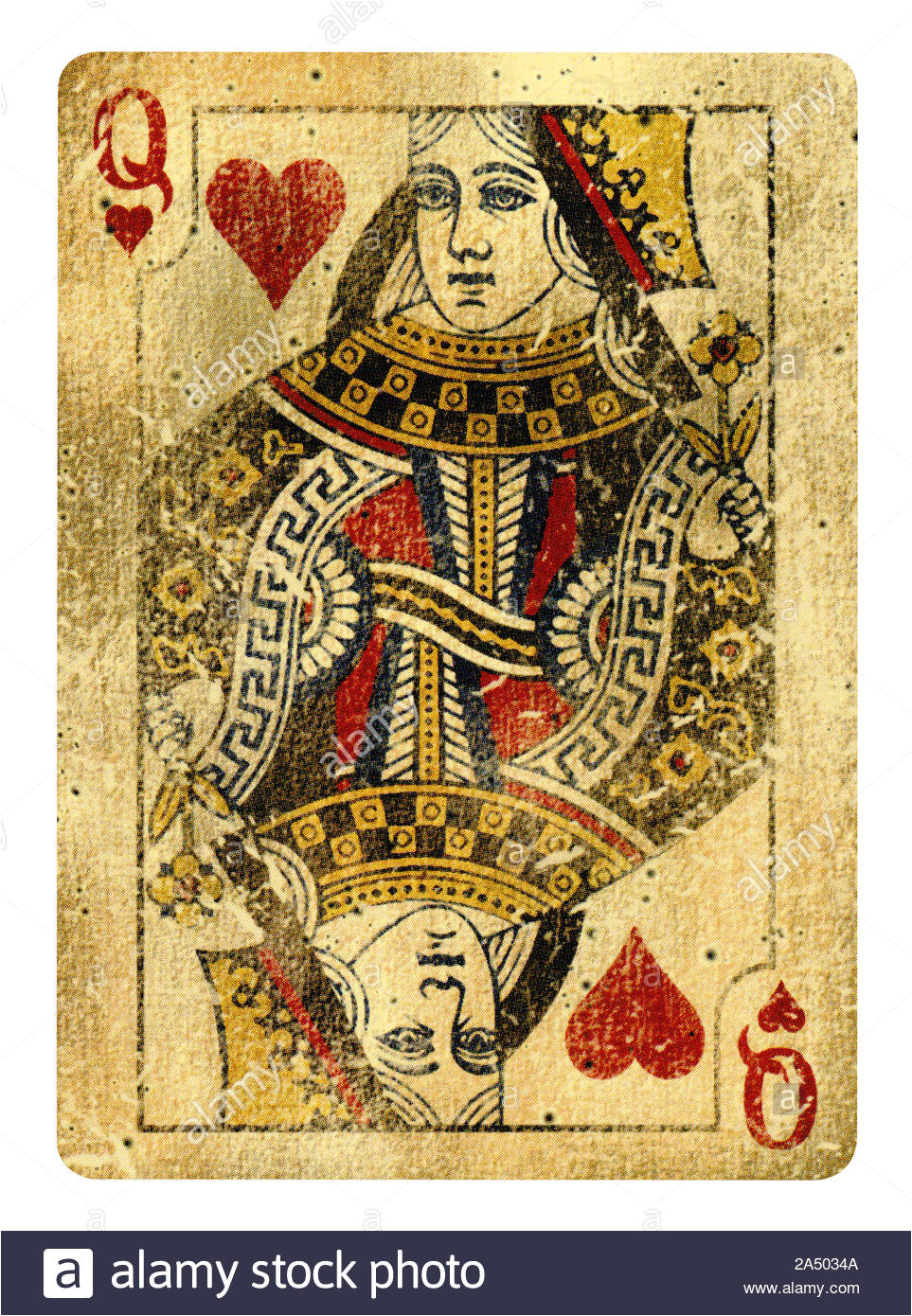queen of hearts playing card isolated on white clipping path included 2a5034a jpg