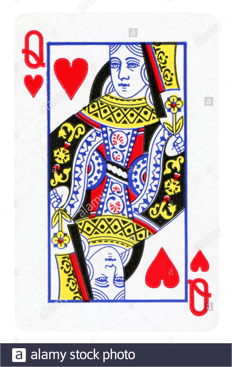 queen of hearts vintage playing card isolated on white clipping path included 2axwweb jpg