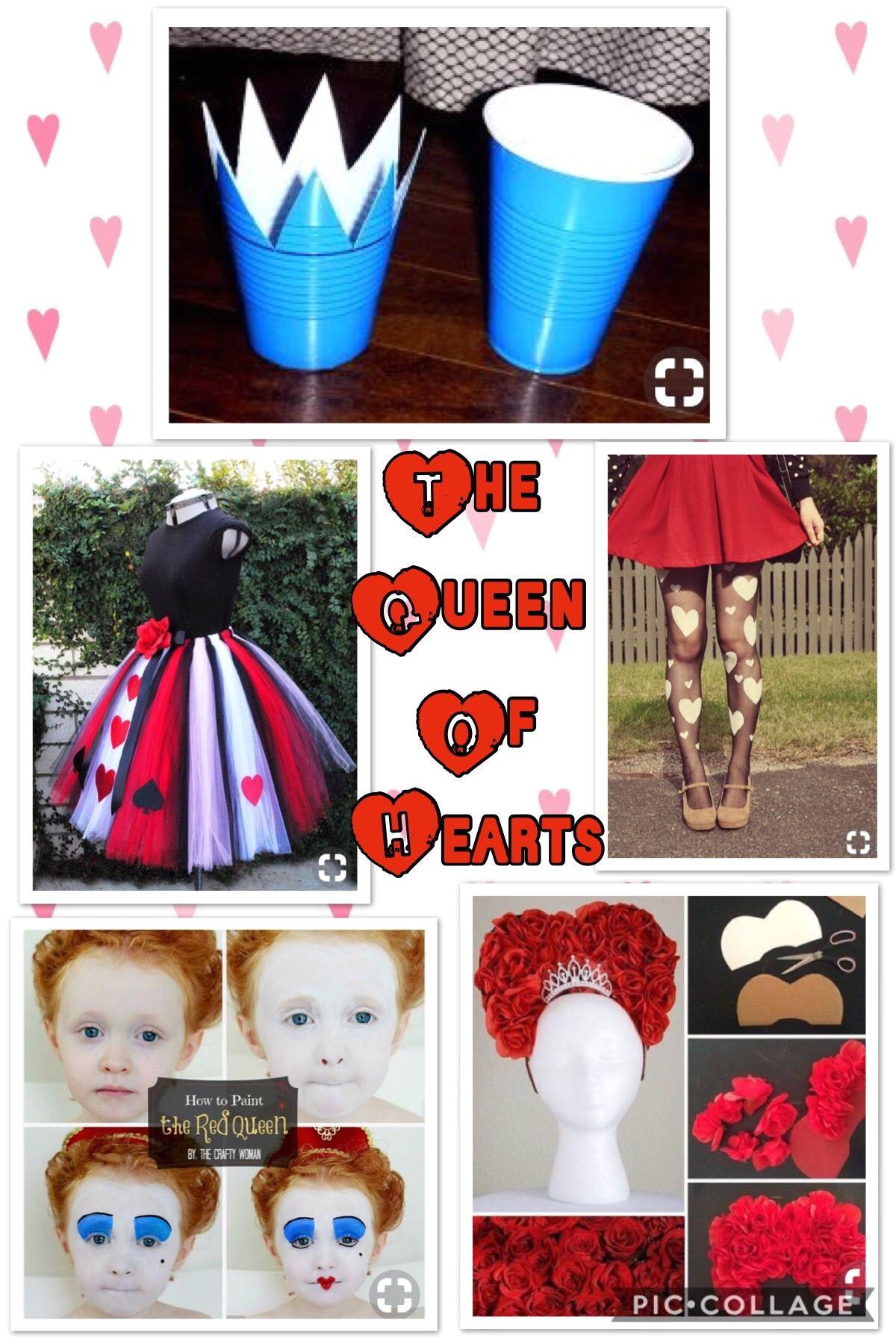 Queen Of Hearts Diy Card Collar Queen Of Hearts Costume Diy Halloween Kids Halloween